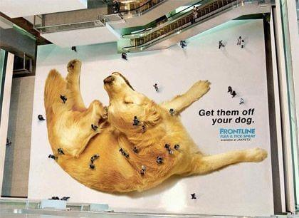 Esta é uma ação publicitária, muito bem feita por sinal!