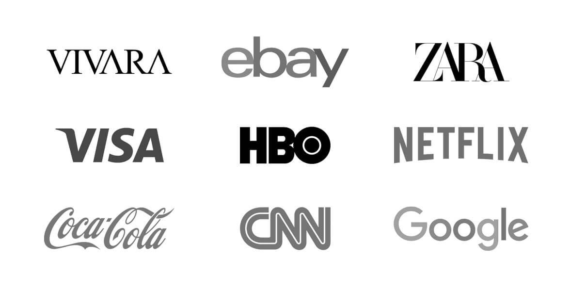 Exemplos de marcas que não possuem ícones