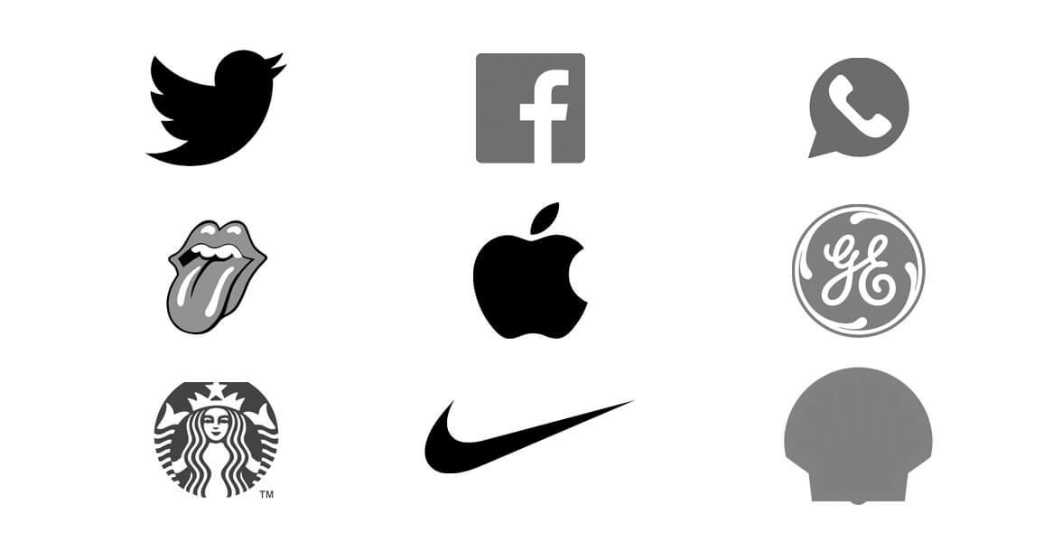 Exemplo de marcas que são reconhecidas sem qualquer texto