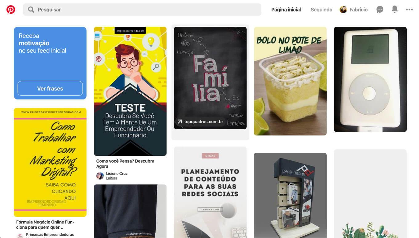Se você trabalha muito com imagens, o Pinterest é o seu lugar