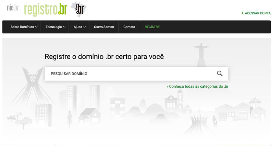 Site do registro.br